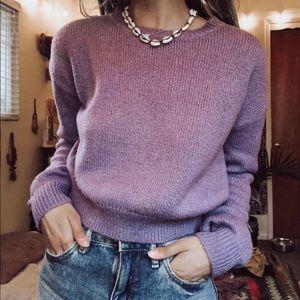 purple crop top sweater